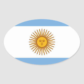 Adesivo Oval Bandeira de Argentina - bandera de Argentina