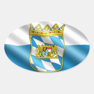 Adesivo Oval Bandeira de Baviera