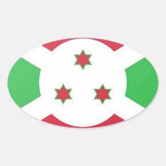 Adesivo Oval Bandeira de Burundi