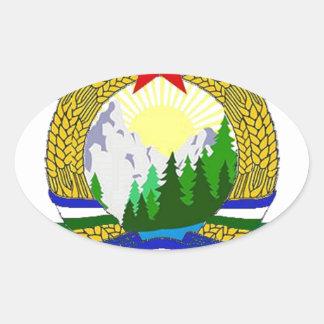 Adesivo Oval Bandeira de Cascadia socialista