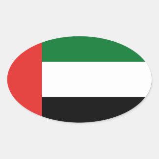 Adesivo Oval Bandeira de Emiradosarabes