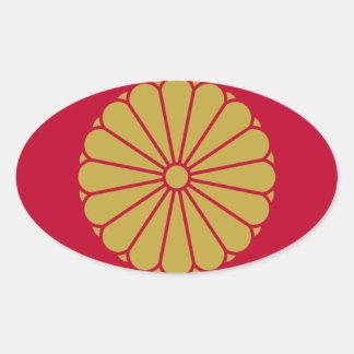 Adesivo Oval Bandeira de Japão Sessyo