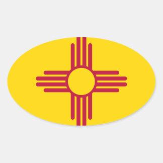 Adesivo Oval Bandeira de New mexico