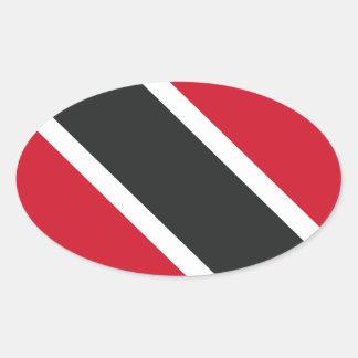 Adesivo Oval Bandeira de Trinidadtobago