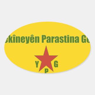 Adesivo Oval Bandeira de YPG