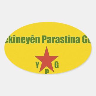 Adesivo Oval Bandeira v2 de YPG