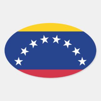 Adesivo Oval Bandeira venezuelana - bandeira de Venezuela -