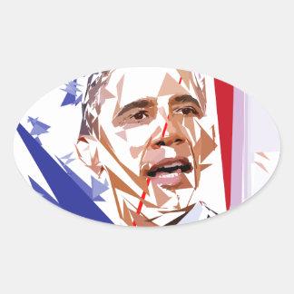 Adesivo Oval Barack Obama