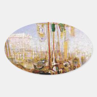 Adesivo Oval barco sem velas