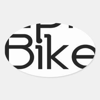 Adesivo Oval Bebê épico da bicicleta