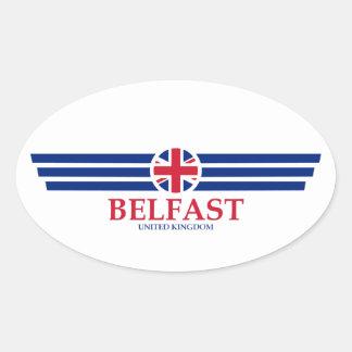 Adesivo Oval Belfast