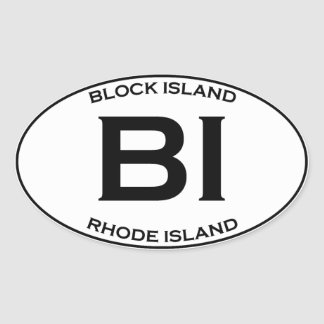 Adesivo Oval BI - ilha de bloco Rhode - ilha