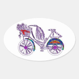 Adesivo Oval Bicicleta