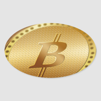 Adesivo Oval Bitcoin 2