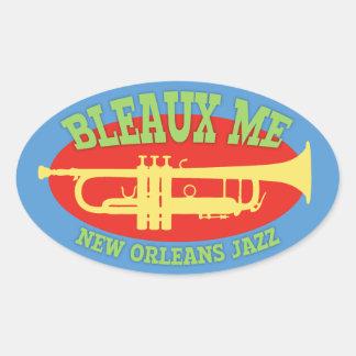 Adesivo Oval Bleaux mim - jazz de Nova Orleães