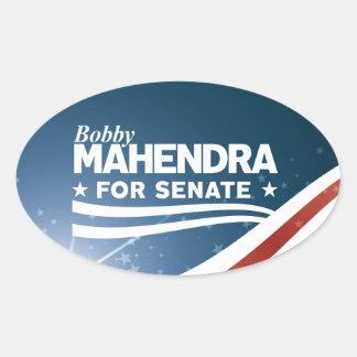 Adesivo Oval Bobby Mahendra para o Senado