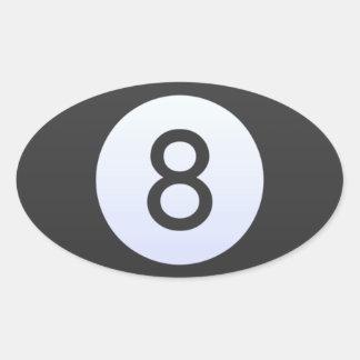 Adesivo Oval Bola 8