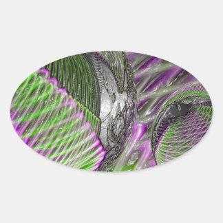 Adesivo Oval Bola de cristal no plástico
