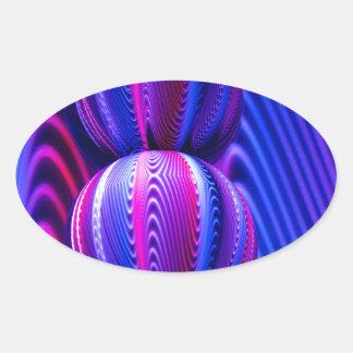 Adesivo Oval Bola de vidro invertida