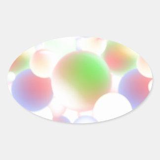 Adesivo Oval Bolas do borrão