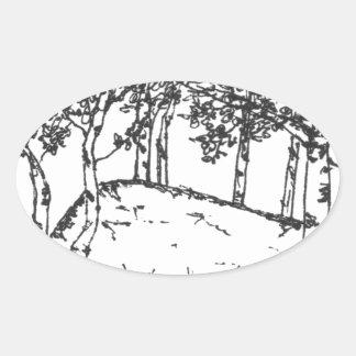 Adesivo Oval Bosque de Aspen