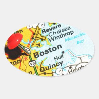 Adesivo Oval Boston, Massachusetts