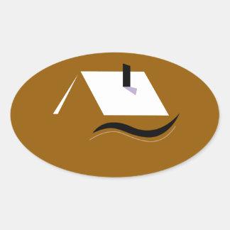 Adesivo Oval Branco home do ouro do design