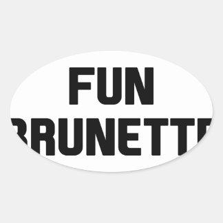 Adesivo Oval Brunette do divertimento