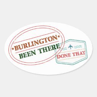 Adesivo Oval Burlington feito lá isso