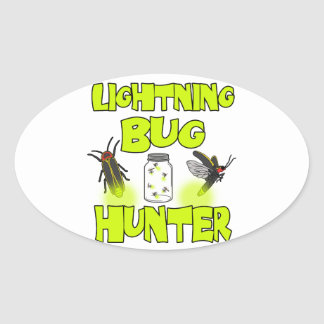 Adesivo Oval caçador do inseto de relâmpago