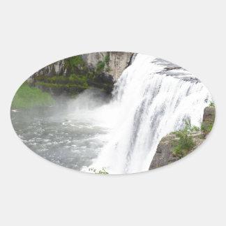 Adesivo Oval Cachoeiras