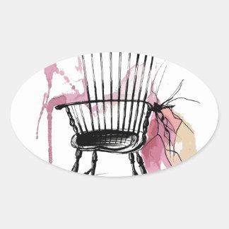 Adesivo Oval Cadeira de Windsor