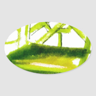 Adesivo Oval cadeira do chinoiserie para o cartão do lugar