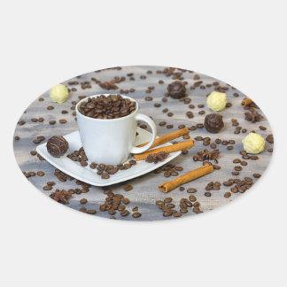 Adesivo Oval Café e especiarias