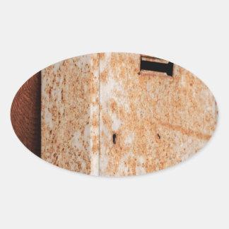 Adesivo Oval Caixa postal oxidada fora