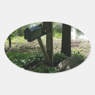 Adesivo Oval Caixa postal pela lagoa