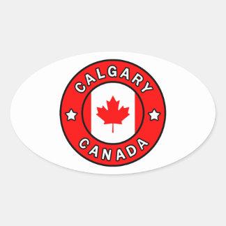Adesivo Oval Calgary Canadá