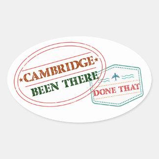 Adesivo Oval Cambridge feito lá isso