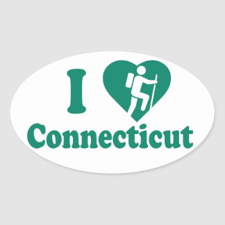 Adesivo Oval Caminhada Connecticut