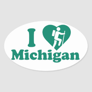 Adesivo Oval Caminhada Michigan