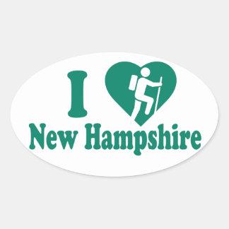 Adesivo Oval Caminhada New Hampshire