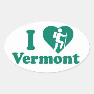 Adesivo Oval Caminhada Vermont