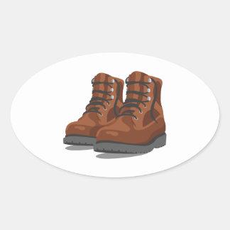 Adesivo Oval Caminhando botas