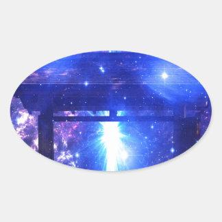 Adesivo Oval Caminho iridescente a em qualquer lugar