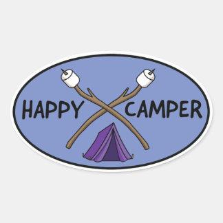 Adesivo Oval Campista feliz - policromo