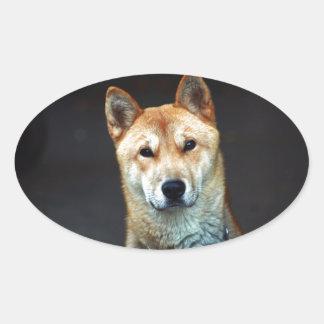 Adesivo Oval cão