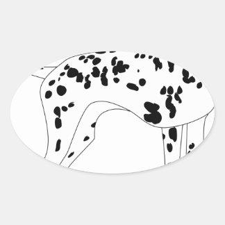 Adesivo Oval Cão de Dalmation
