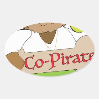 Adesivo Oval Cão do Co-Pirata