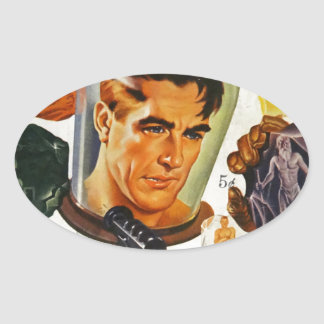 Adesivo Oval Capitão Futuro e as pedras do espaço