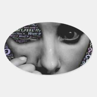 Adesivo Oval cara desconhecida